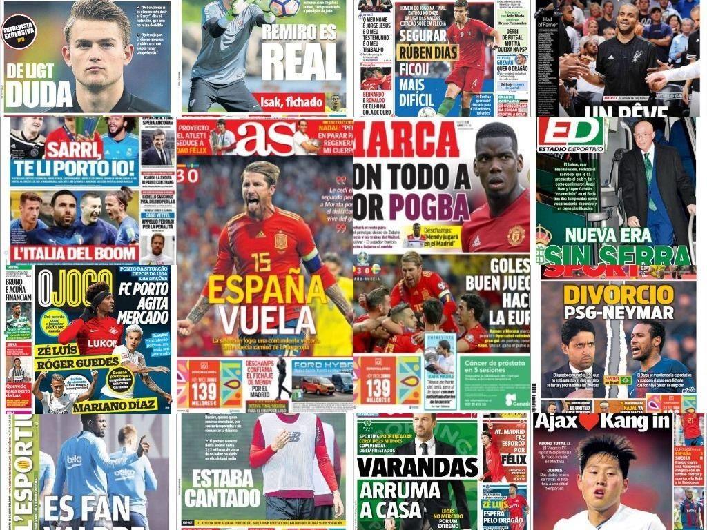 Las portadas del 11 de junio