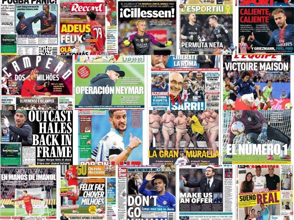 Las portadas del 18 de junio