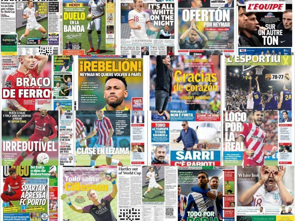 Las portadas del 20 de junio