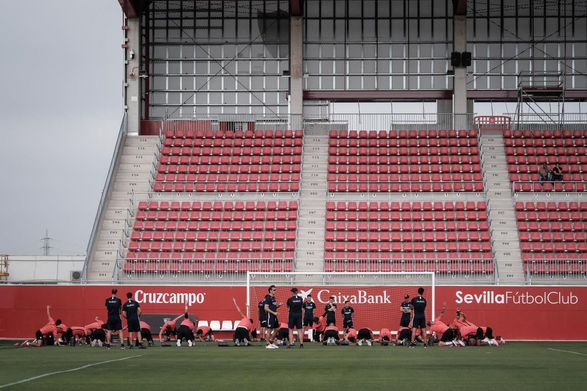 Las imágenes del entrenamiento del Sevilla FC