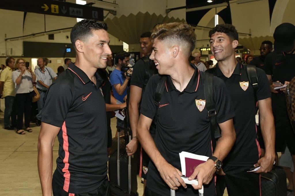 Salida del Sevilla FC hacia Estados Unidos