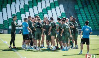 Primer entrenamiento de Borja Iglesias con el Betis