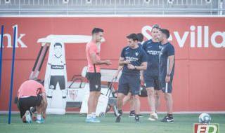 Entrenamiento del Sevilla del 9 de septiembre