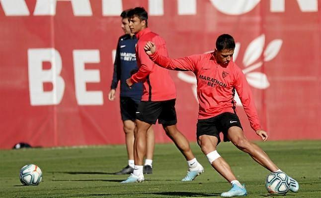 Entrenamiento del Sevilla FC.