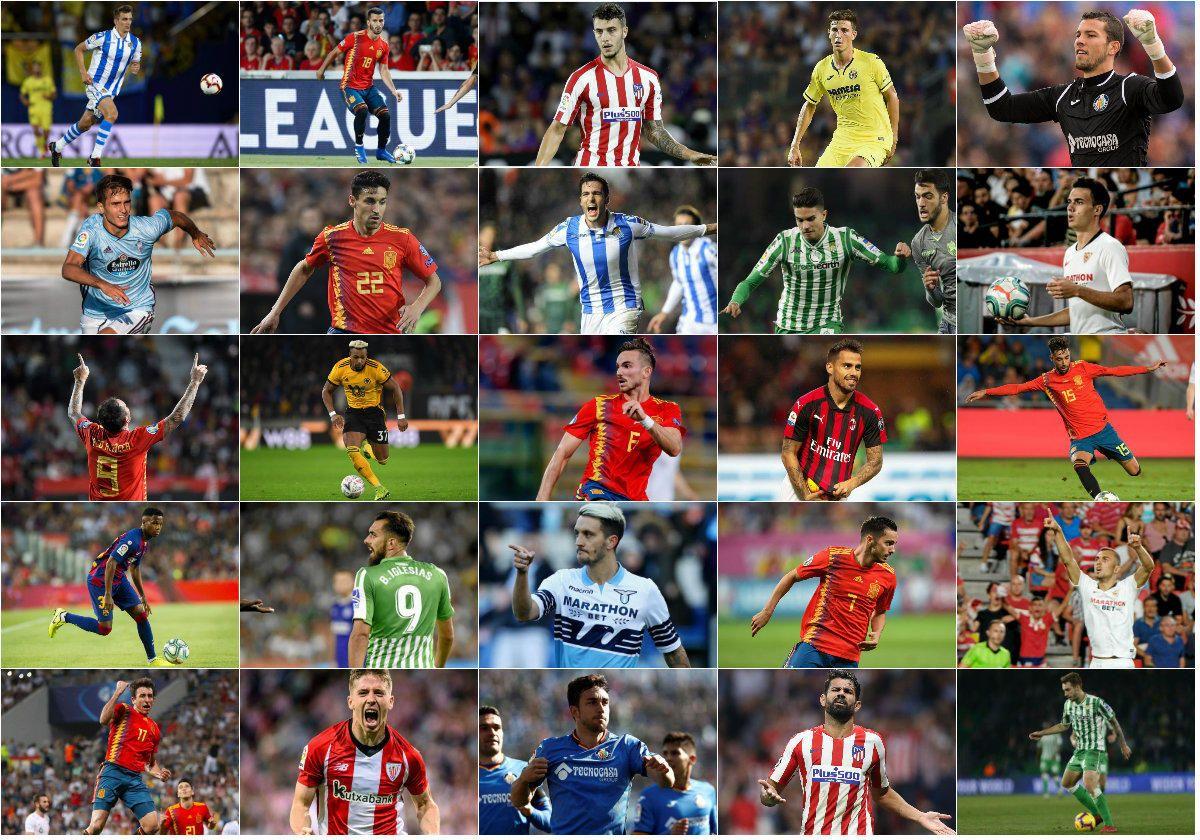 Los 60 aspirantes a estar en la Euro con España