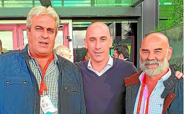 José Antonio Piñero, Luis Rubiales y Juan Antonio Romero