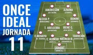 El once ideal de la jornada 11 más el 'Top 5'