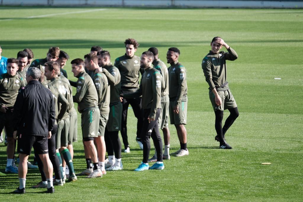 El entrenamiento del Betis, en imágenes