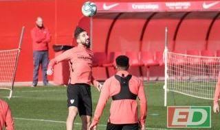 Entrenamiento del Sevilla del 6 de diciembre