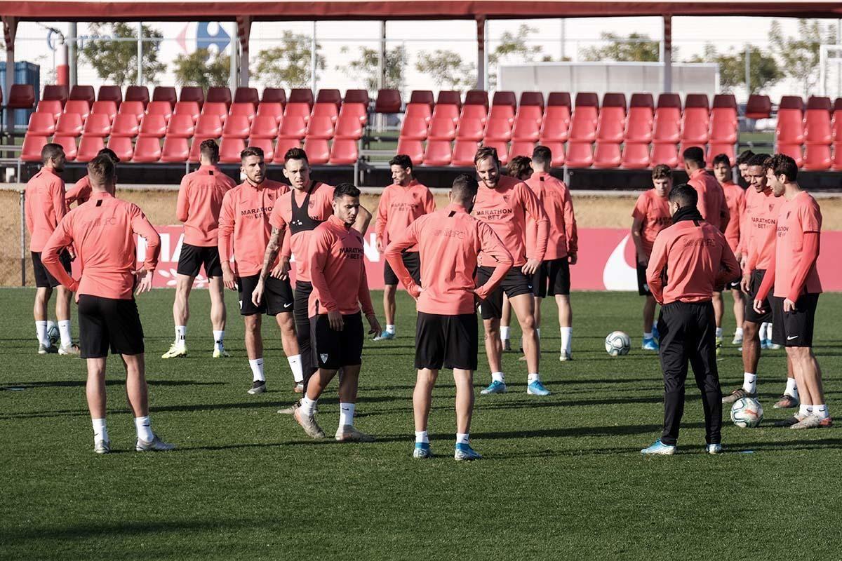 Entrenamiento del Sevilla (7/12/19)