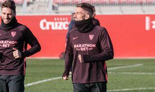 El entrenamiento del Sevilla en imágenes