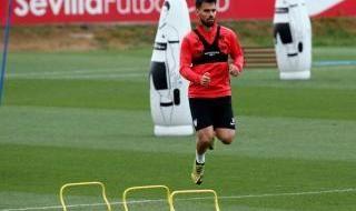 Cuarto entrenamiento individual del Sevilla F.C.