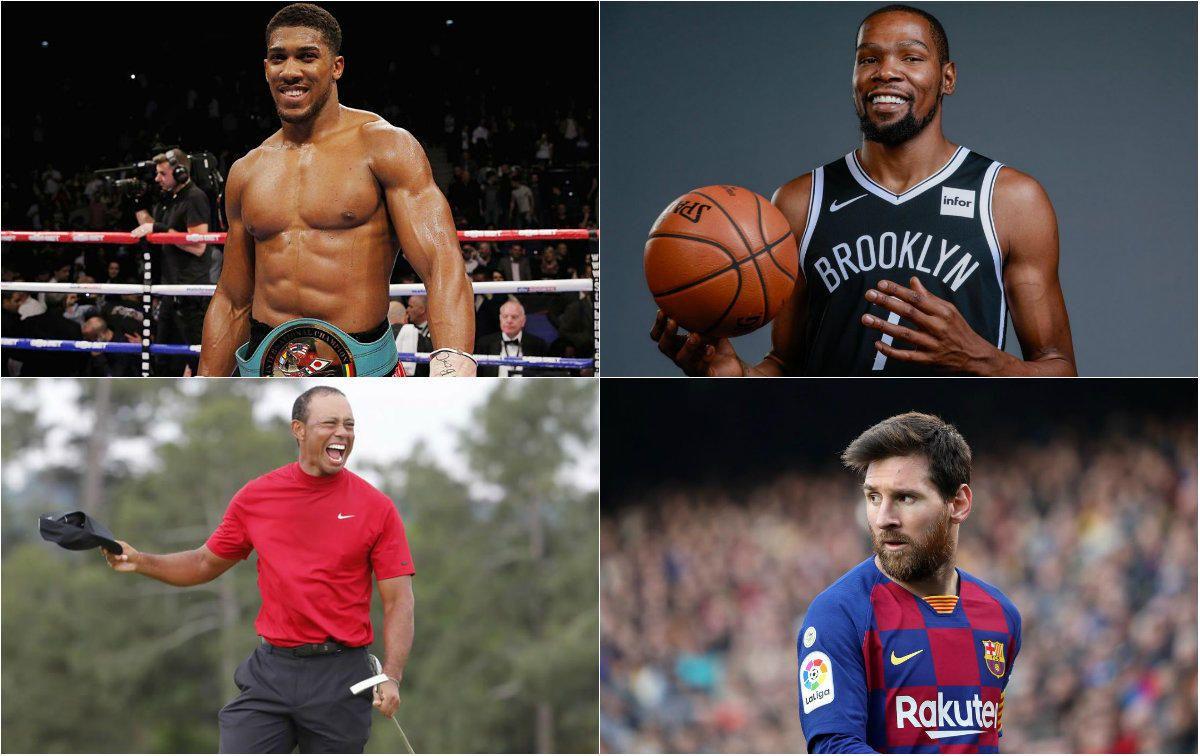 Los 20 deportistas mejores pagados según Forber.