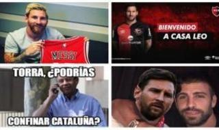 Los memes tras el anuncio de la salida de Messi