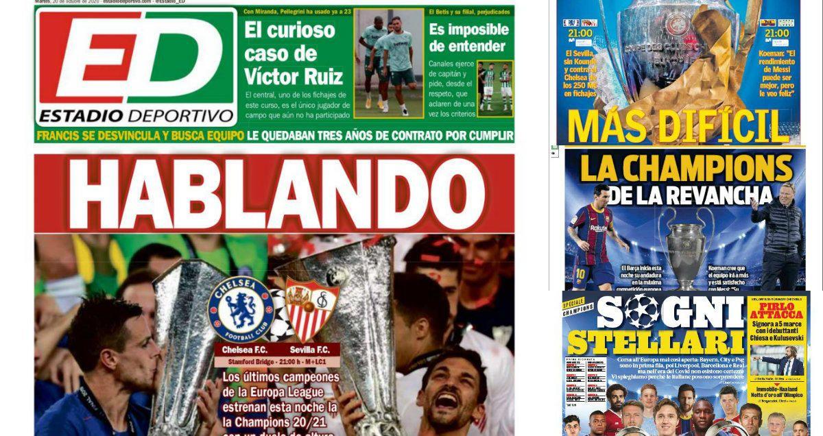 Las portadas del martes 20 de octubre