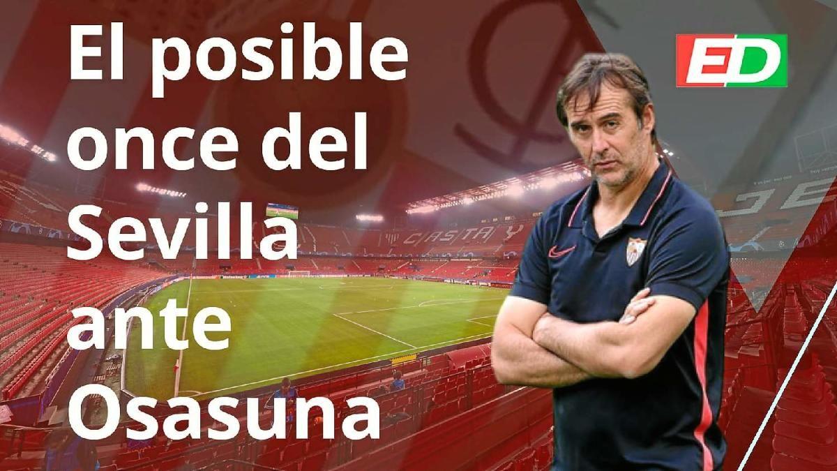 Posible once del Sevilla FC ante Osasuna