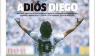 Maradona, en todas las portadas de la prensa del mundo