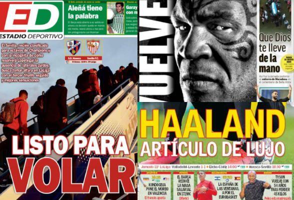 Las portadas del sábado 28 de noviembre