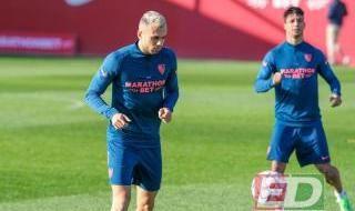 Entrenamiento previo al Sevilla FC-Chelsea FC