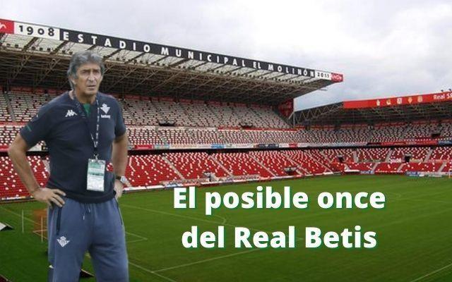 El posible once del Betis ante el Sporting de Gijón