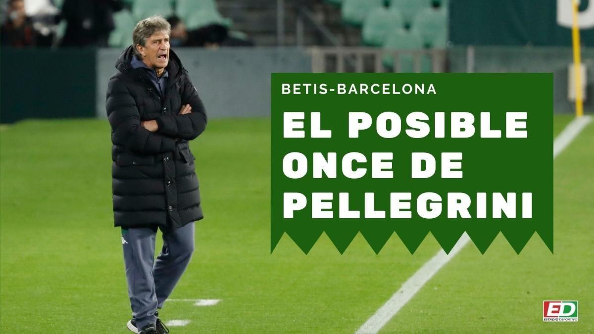 El posible once de Pellegrini ante el Barça