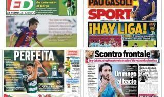 Las portadas del domingo 21 de febrero