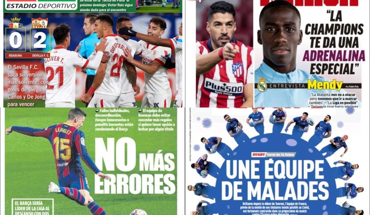 Las portadas del martes 23 de febrero