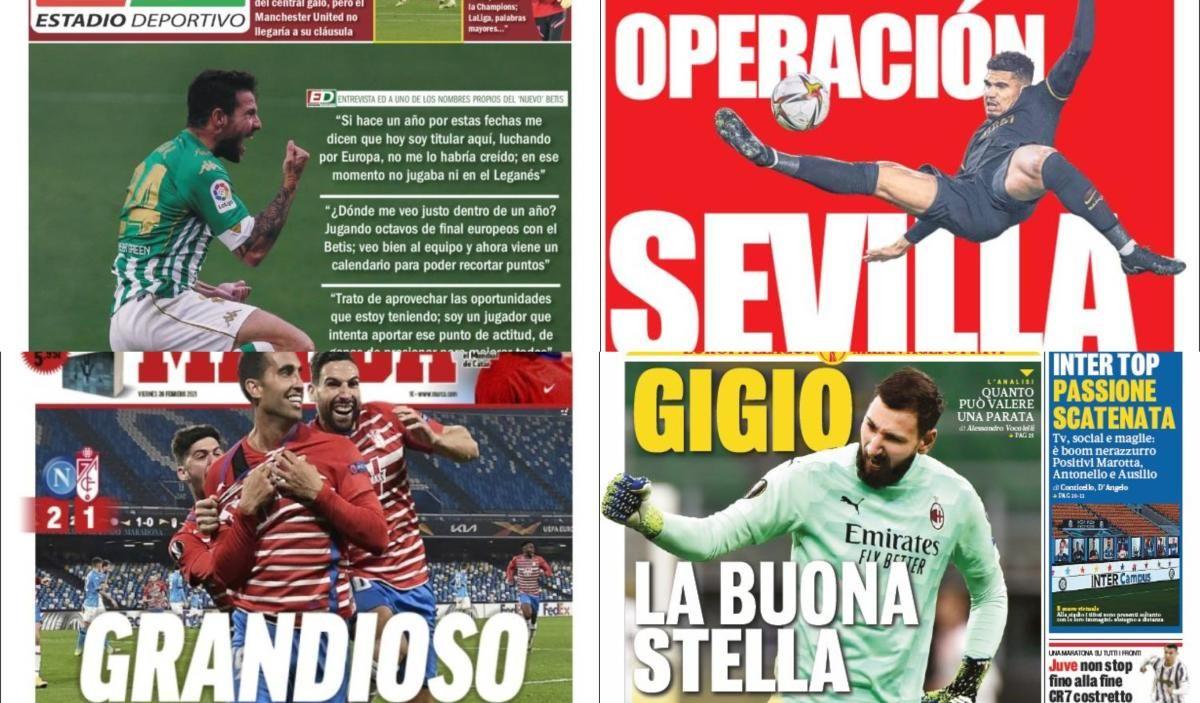 Las portadas del viernes 26 de febrero