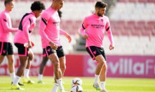 Entrenamiento del Sevilla FC
