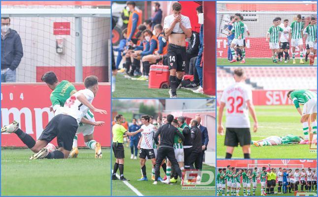 Las mejores imágenes del derbi entre Sevilla Atlético y Betis Deportivo