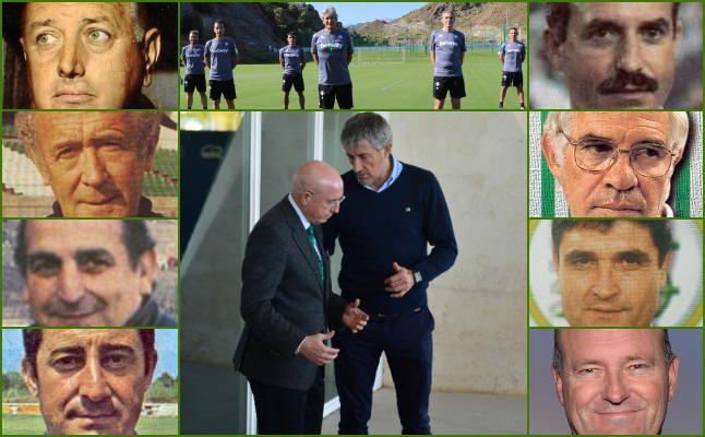 Pellegrini y los entrenadores del Betis en Europa