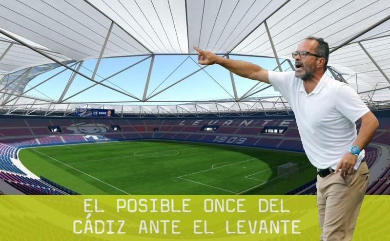 El posible once del Cádiz CF ante el Levante UD