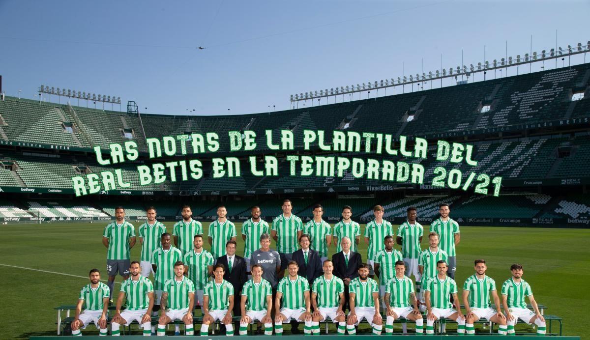 Las notas de la plantilla del Real Betis en la temporada 20/21