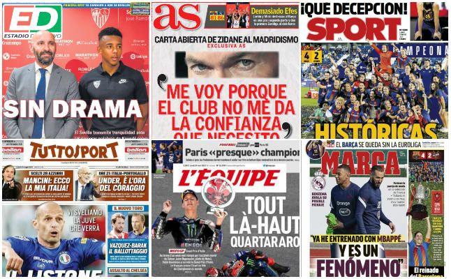 Las portadas del lunes 31 de mayo