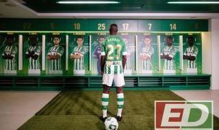 Presentación de Sabaly como nuevo fichaje del Betis