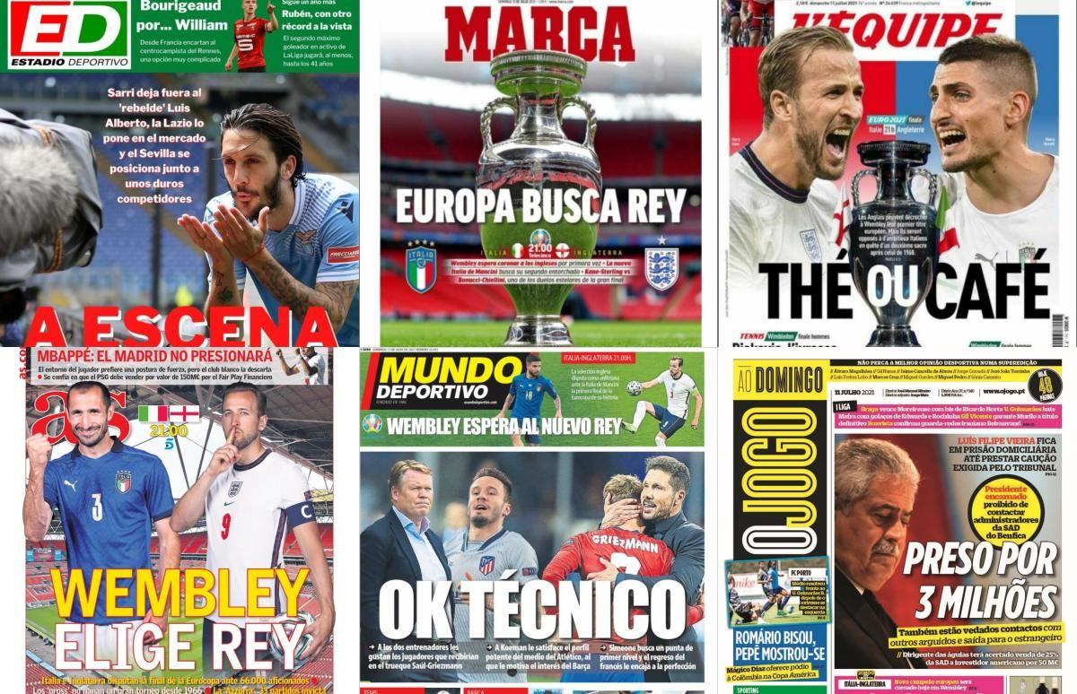 Las portadas del domingo 11 de julio