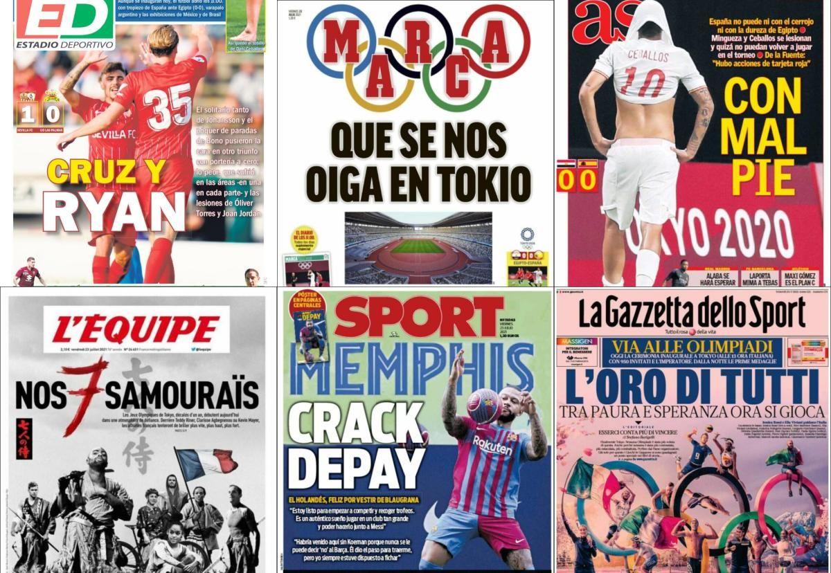 Las portadas del viernes 23 de julio