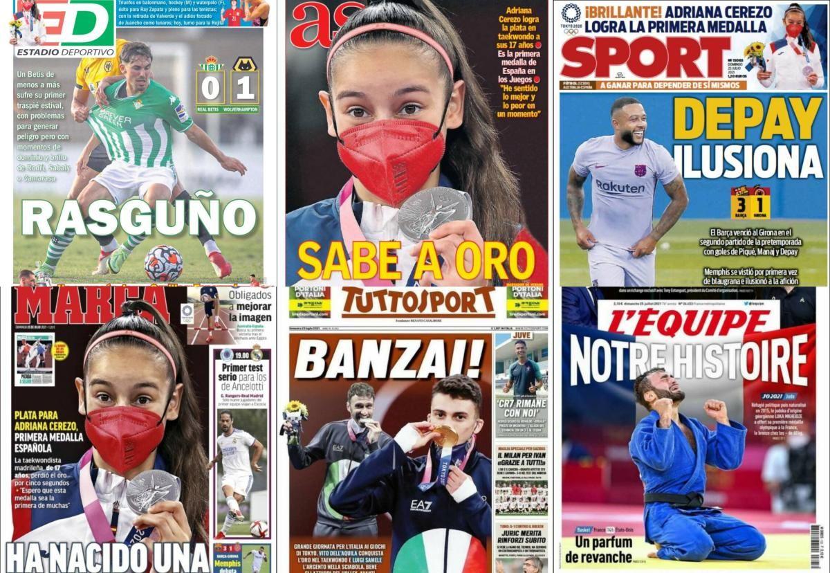 Las portadas del domingo 25 de julio