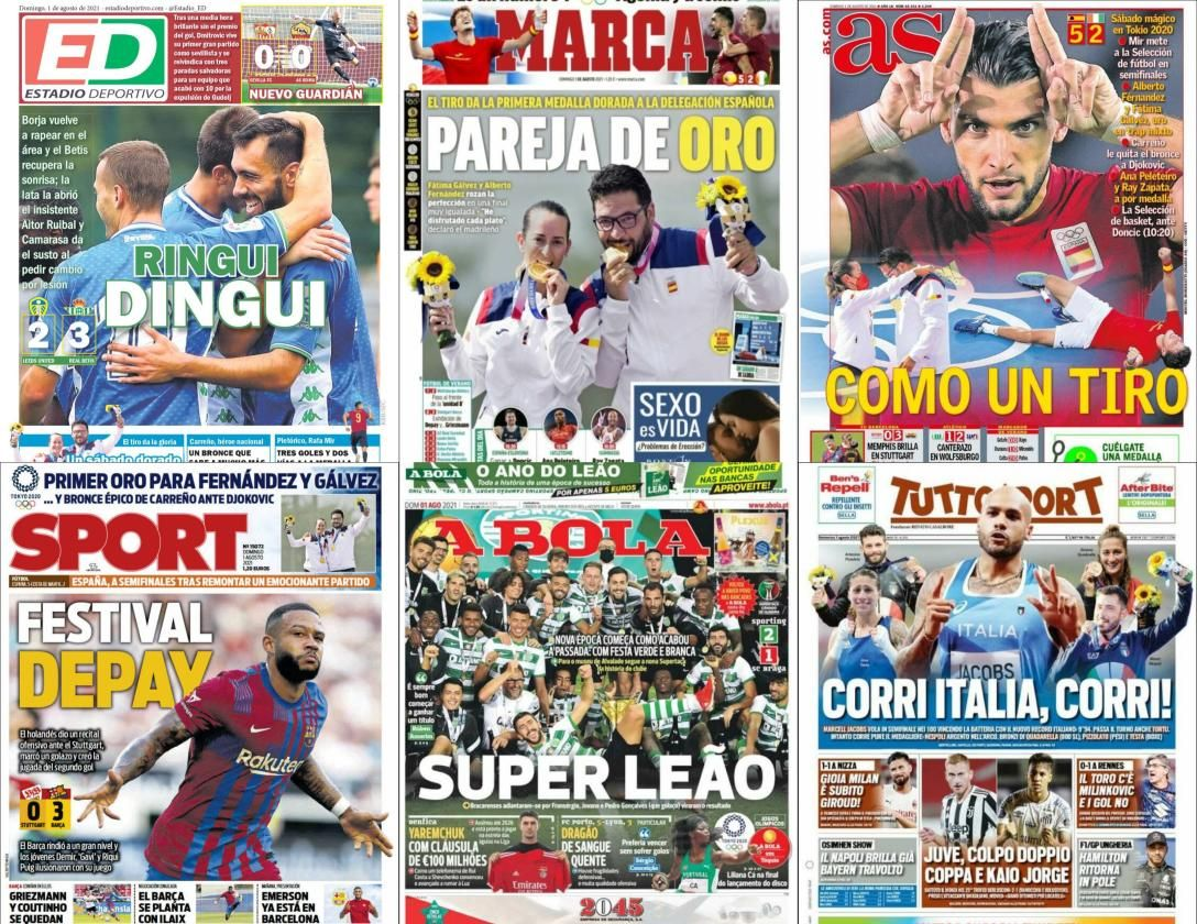 Las portadas del domingo 1 de agosto