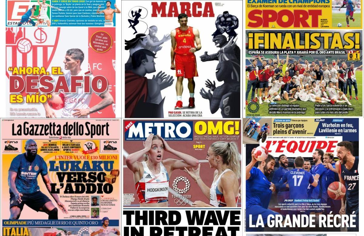 Las portadas del miércoles 4 de agosto