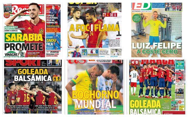 Las portadas del lunes 6 de septiembre