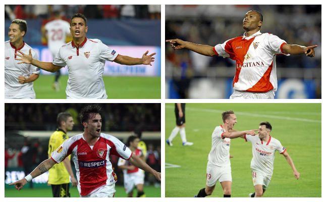 Primeros goleadores europeos de Sevilla por curso