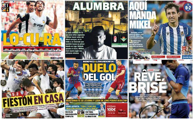 Las portadas deportivas del lunes 13 de septiembre