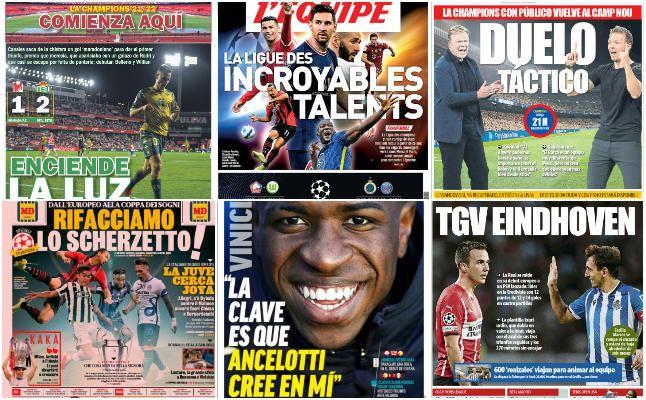 Las portadas deportivas del martes 14 de septiembre