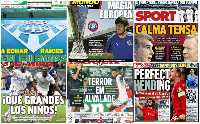 Las portadas deportivas del jueves 16 de septiembre