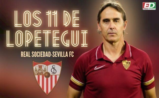 El posible once del Sevilla FC ante la Real