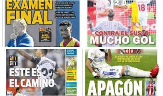 Las portadas del domingo 26 de septiembre