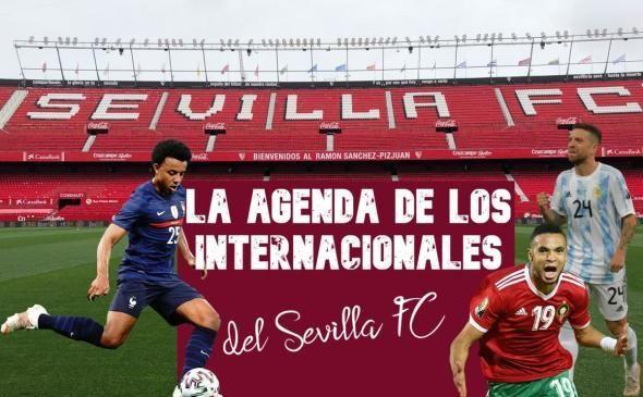 Los internacionales del Sevilla FC