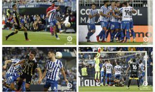Goles y mejores imágenes del Málaga 1-1 Zaragoza
